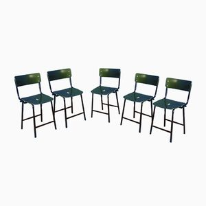 Industrial Chairs, 1960s, Set of 5