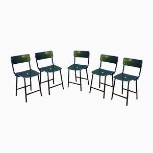 Industrielle Stühle, 1960er, 5er Set