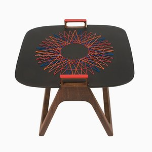 Naledi Side Table with Weaving by Patricia Urquiola