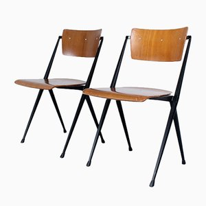 Pyramid Chairs by Wim Rietveld for Ahrend de Cirkel, 1960s, Set of 2