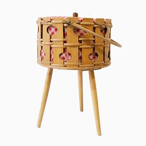 Willow Sewing Basket, 1960s