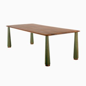 Langer Sefefo Tisch mit bemalter Leiste von Patricia Urquiola für Mabeo