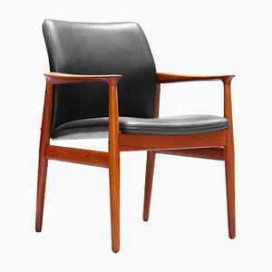 Chaise de Bureau en Teck par Arne Vodder pour Glostrup, Danemark, 1960s