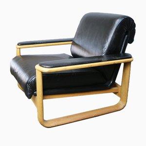 Leder Sessel von Brune, 1960er