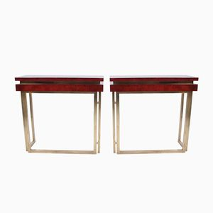 Italian Console Tables, 1970s, Set of 2