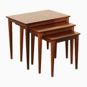 Conjunto de tres mesas nido de Kvalitet Form Funktion, años 60