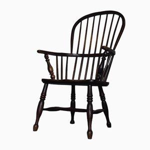 Georgianischer Ulmenholz Hoop Back Windsor Sessel, 1830er