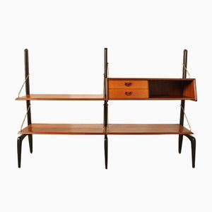 Dutch Shelving Unit by Louis van Teeffelen for WéBé, 1960s