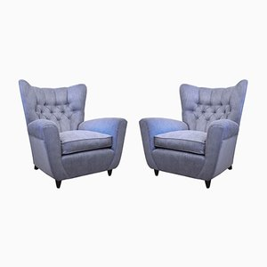 Vintage Wing Armchairs by Paolo Buffa, Set of 2