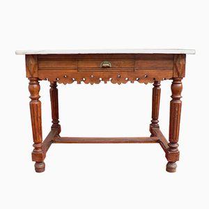 Tavolo da macellaio vintage in marmo