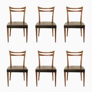 Solid Rosewood Dining Chairs, 1960s, Set of 6