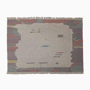 Vintage Pastel Colored Flat Weave Rug