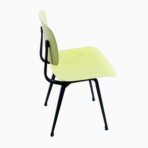 Revolt Chair in Black & Yellow in Ciranol by Friso Kramer for Ahrend De Cirkel, 1950s