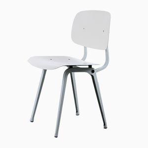 Revolt Stuhl aus grauem und weißem Ciranol von Friso Kramer für Ahrend De Cirkel, 1950er