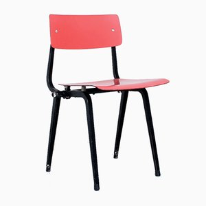 Vintage Folding Theatre Revolt Chair in Red & Black by Friso Kramer for Ahrend De Cirkel