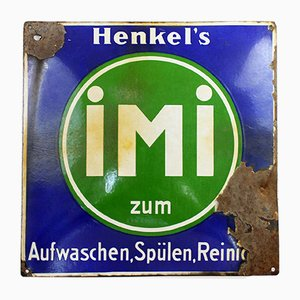 Vintage Enamel Henkel's Sign, 1930s