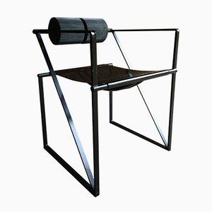 Mid Century 602 Seconda Steel Chair By Mario Botta For Alias, 1982