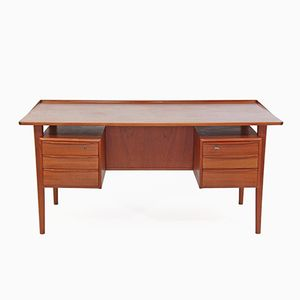 Teak Furnier Schreibtisch von Peter Løvig Nielsen für Løvig, 1970er