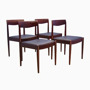 Danish Dining Chairs in Solid Rosewood, 1960s, Set of 4