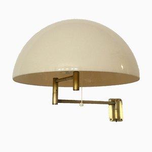 Messing Wandlampe von Staff, 1960er