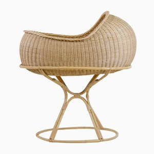 Rattan Baby Cradle by Nanna Ditzel for Wengler, 1958