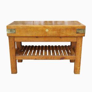 Englischer Vintage Werktisch aus Ahorn