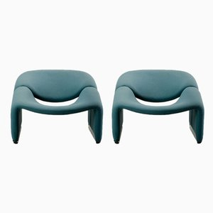 Mid-Century Lounge Chairs by Pierre Paulin for Artifort, Set of 2
