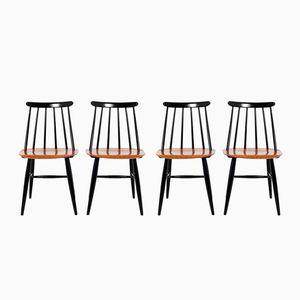 Fanett Stühle von Ilmari Tapiovaara für Edsvon Verken, 1960er, 4er Set