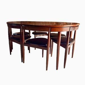 Vintage Dinette Dining Table & Chairs Set by Hans Olsen for Frem Røjle, 1960s
