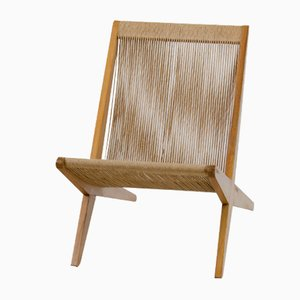 Kiefernholz Stuhl mit Papierkordel Bespannung