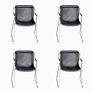 Vintage Drahtgeflecht Penelope Stühle von Charles Pollock für Anonima Castelli, 4er Set