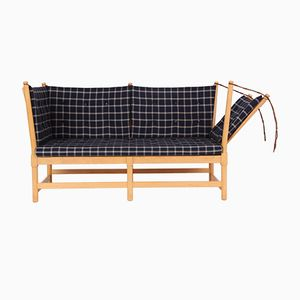 1789 Sofa aus Buche & Cotill von Børge Mogensen für Fritz Hansen, 1980er