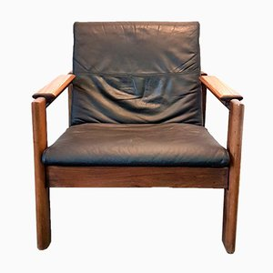 Mid-Century Rosewood and Chrome Lounge Chair
