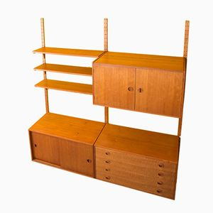 Teak Veneered Wall Unit From HG Furniture, 1960s