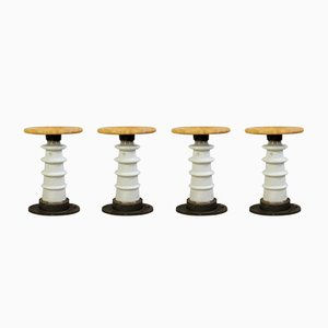 Industrial Stools from Electroporcelán Louny, 1970s, Set of 4