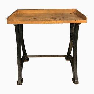 Vintage Workbench on Cast Iron Base
