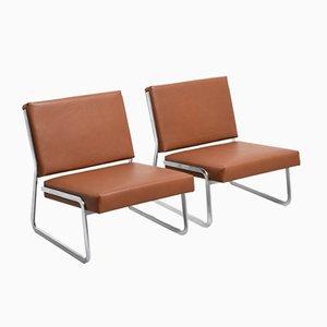 Sessel aus Stahl von Paul Sumi für Lübke, 1960er, 2er Set