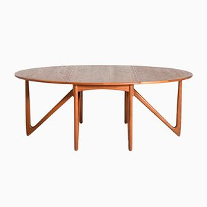 Gateleg Extendable Dining Table by Kurt Østervig for Jason Møbler, 1950s