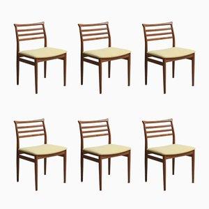 Vintage Esszimmerstühle aus Teakholz von Erling Torvits für Sorø Stolefabrik, 6er Set