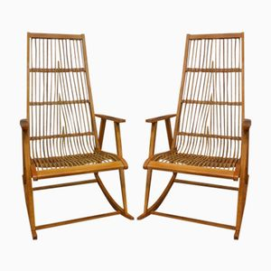 German Rocking Chairs by Deutsche Werkstätten Hellerau, 1960s, Set of 2