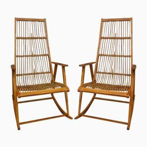 Rocking-Chairs par Deutsche Werkstätten Hellerau, Allemagne, 1960s, Set de 2