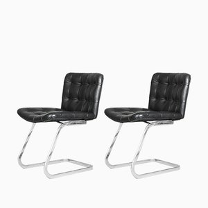 Swiss Leather RH-304 Chairs by Robert Haussmann for de Sede, 1960s, Set of 2