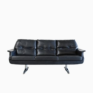 Vintage Leather Sofa 1970s