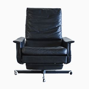 Chaise Pivotante Vintage en Cuir