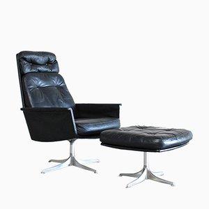 Modell Sedia Set mit drehbarem Sessel und Ottomane von Horst Brüning für Cor, 1960er