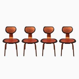 Neugestaltete Cees Braakman Esszimmerstühle von Markus Friedrich Staab, 4er Set