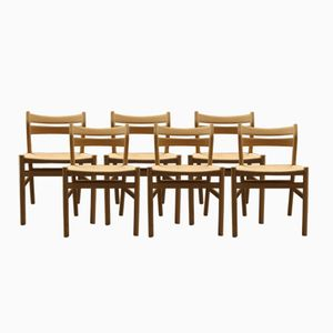 Mid-Century BM1 Chairs by Borge Mogensen for C.M. Madsen, Set of 6