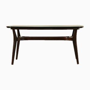 Table Vintage en Bois Noirci & Formica, Italie