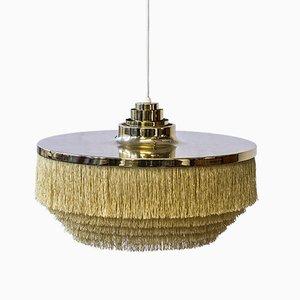 Lampe à Suspension Vintage à Franges par Hans Agne Jakobsson