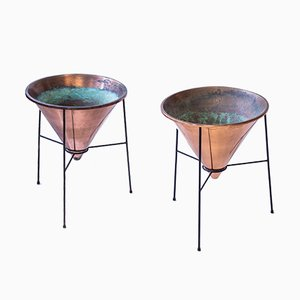 Copper Planters by Hans-Agne Jakobsson, 1950s, Set of 2